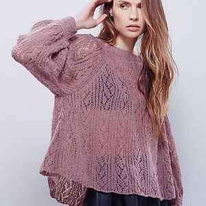 Free People Lights Will Shine Open Knit Sweater XS